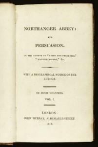 Frontespizio di Persuasione e L'Abbazia di Northanger